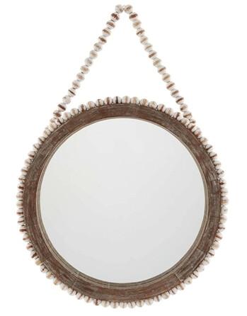 MudPie Beaded Wall Mirror