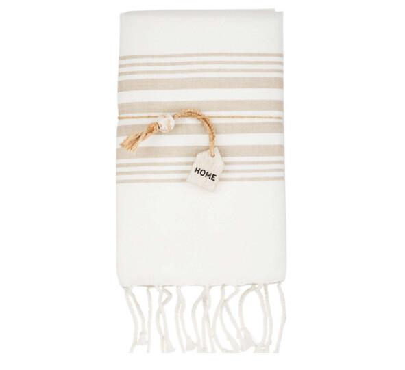 MudPie Taupe Turkish Towel Set