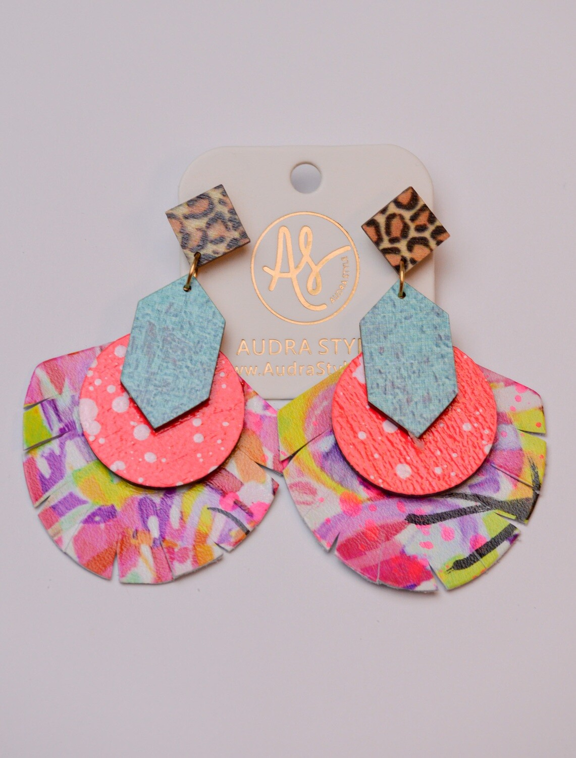 Audra Style Renee Yellow Pink Abstract Neon Pink