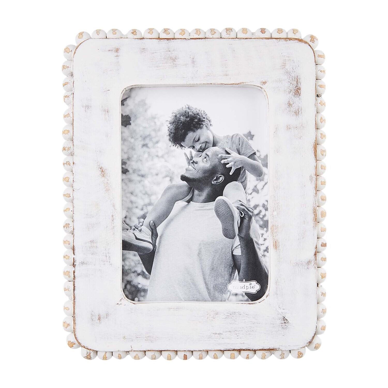 MudPie White Beaded Frame