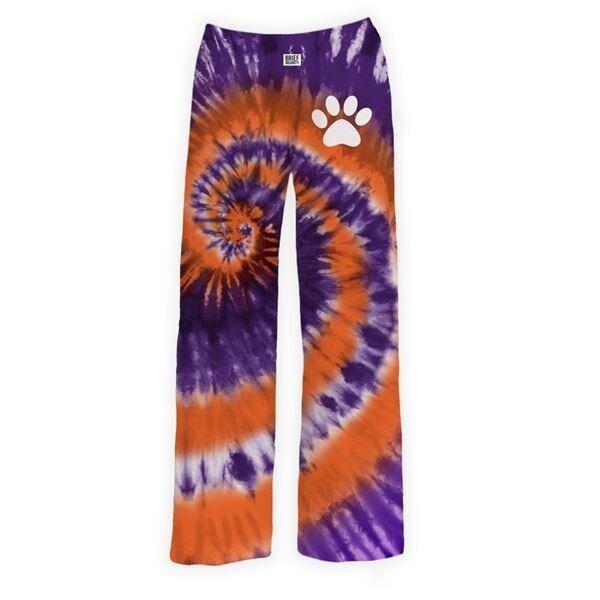 Brief Insanity Pajama Pants- Paw Print TieDye