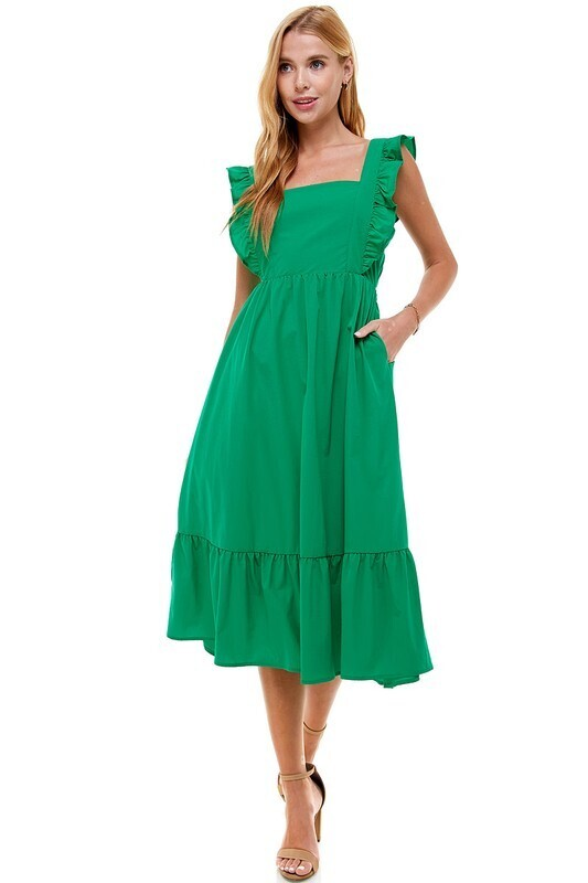 Conquer From Within Dress- Kelly Green