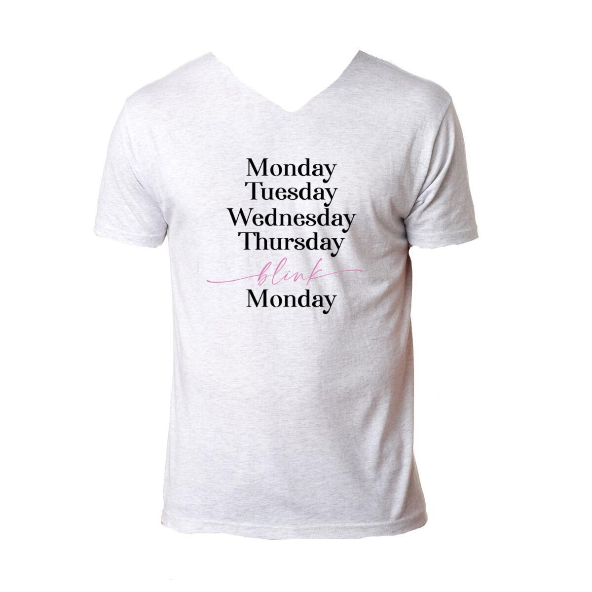 Days Of The Week V-Neck Tee