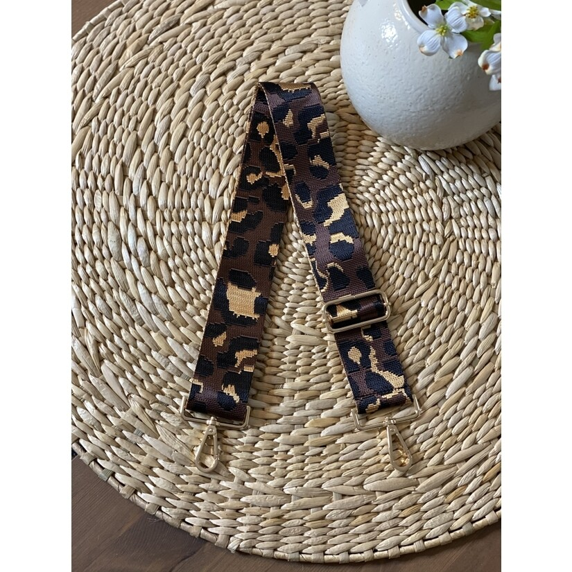 Carrie Leopard Straps- Brown