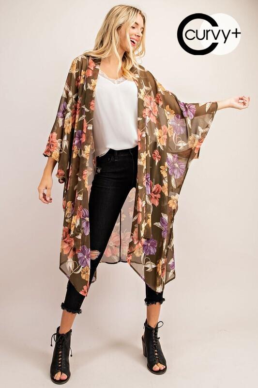 Pick Your Love Kimono PLUS