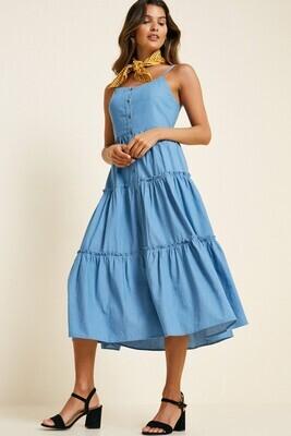 Daisy Denim Midi Dress