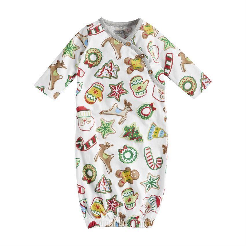 MudPie Christmas Cookies Gown 0-3M