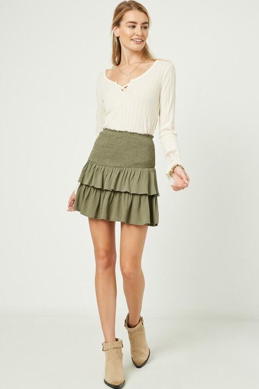 Gotta Have It Skirt Olive