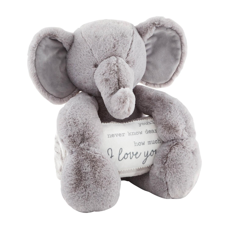 Mudpie Elephant Blanket Pal