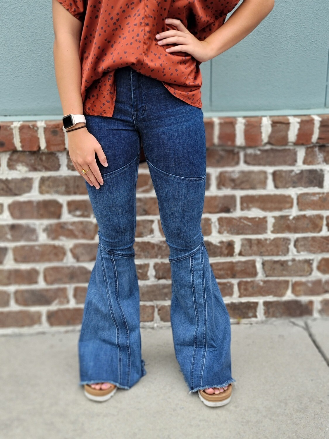 Oh My Love Bell Bottom Jeans