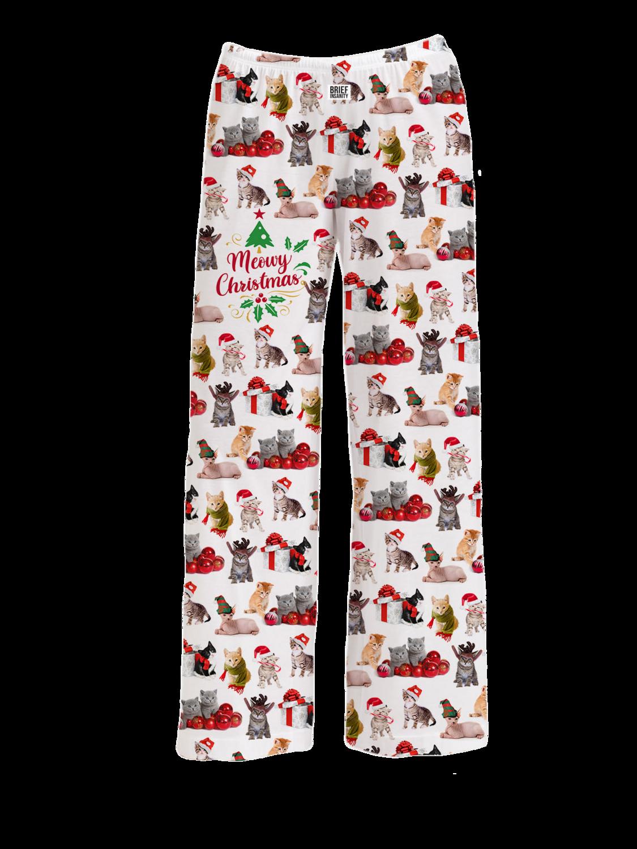 Brief Insanity Pajama Pants- Meowy Christmas