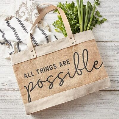 Market Tote - All Things are Possible