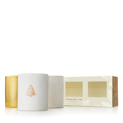 Frasier Fir Gilded Trio Candle Set