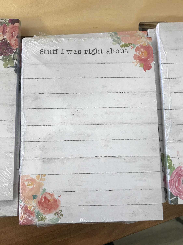 Stuff I Was Right...