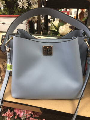 Blue Gusseted Bag