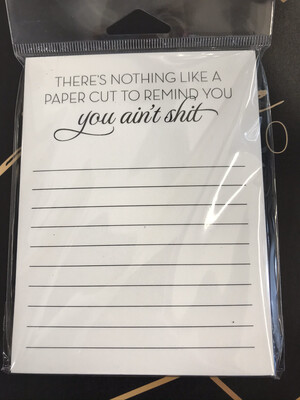 Paper Cut Notepad