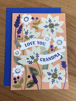 Grandma Banner in Flowers