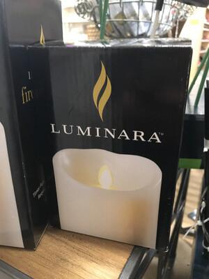 luminara small flameless pillar candle