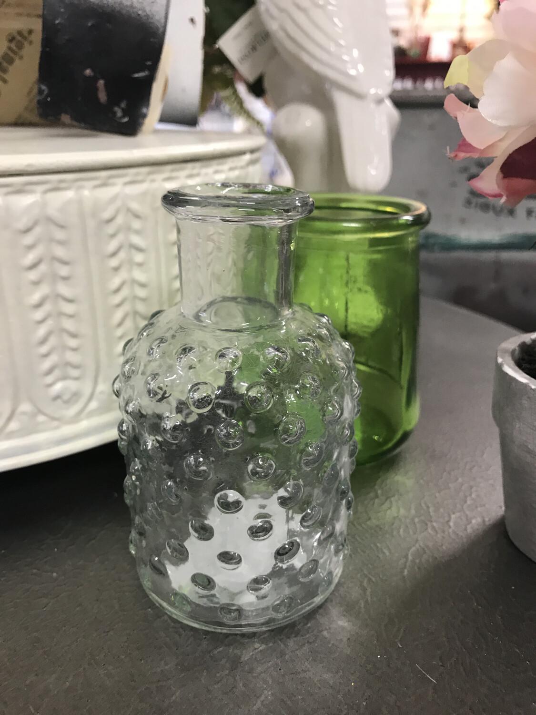 Glass Hobnail Vase