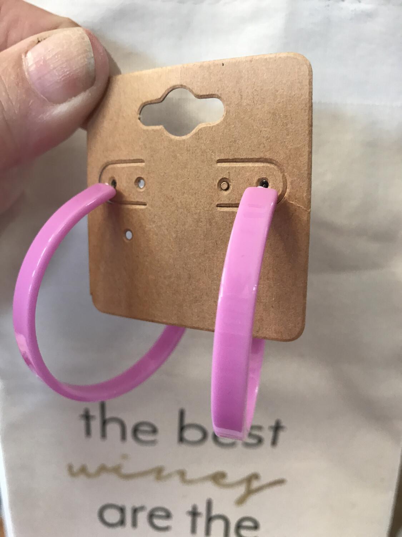 Resin Pink Hoops