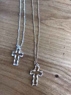 Twisted Cross Necklace