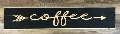 Carved Coffee Sign