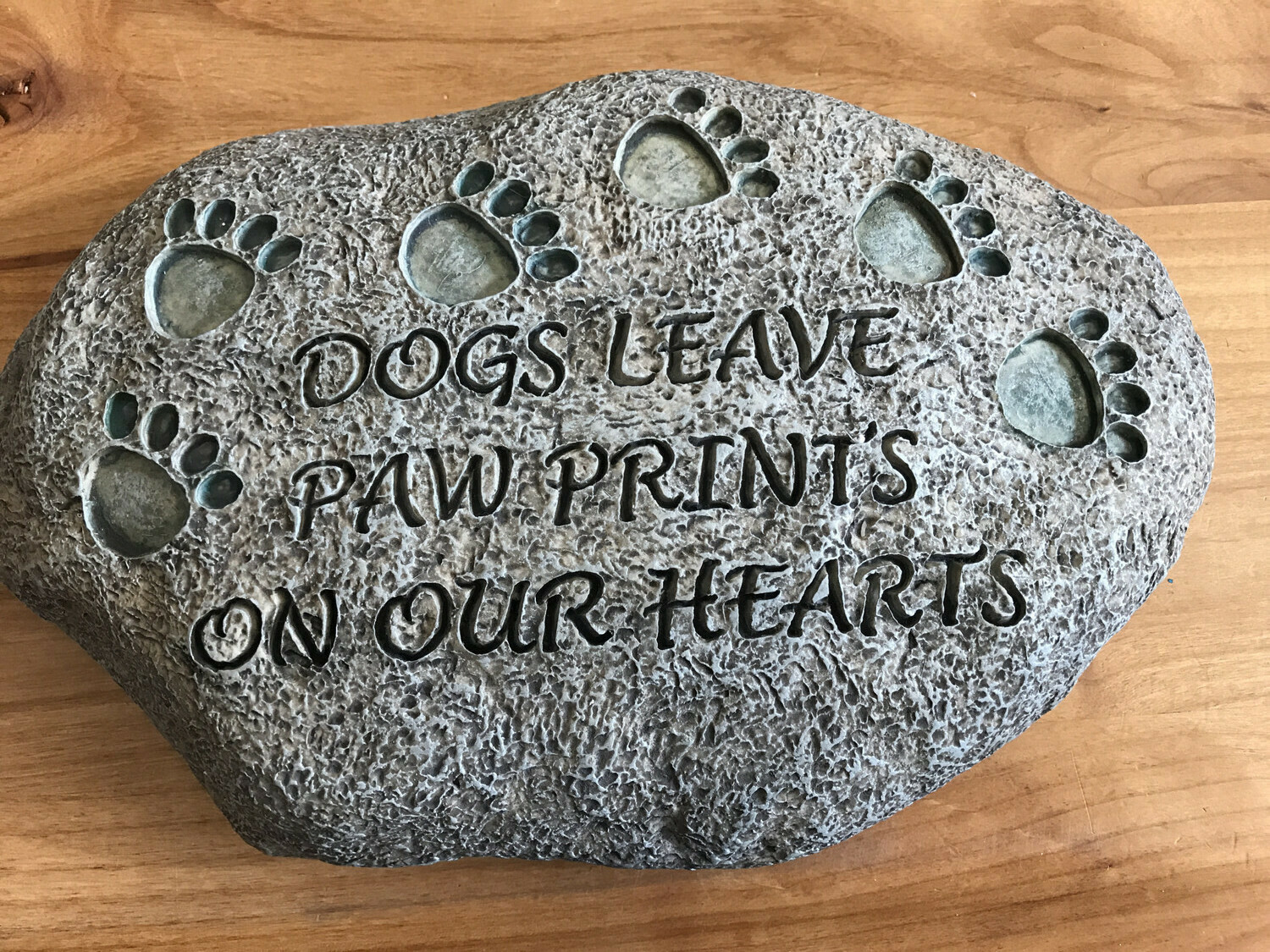 Dogs Leave Prints Stone