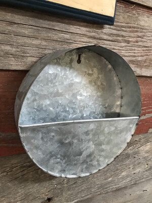 Galvanized Wall Pocket Sm