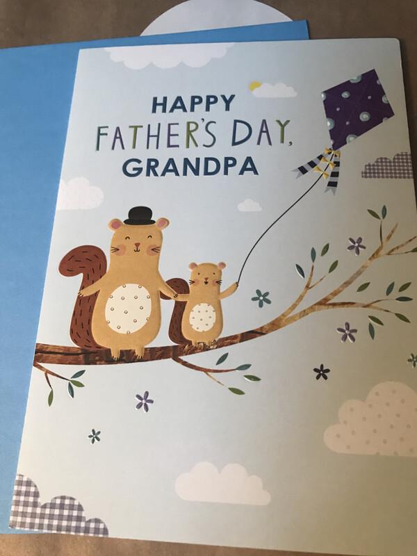Grandpa and Me Squirrels Card
