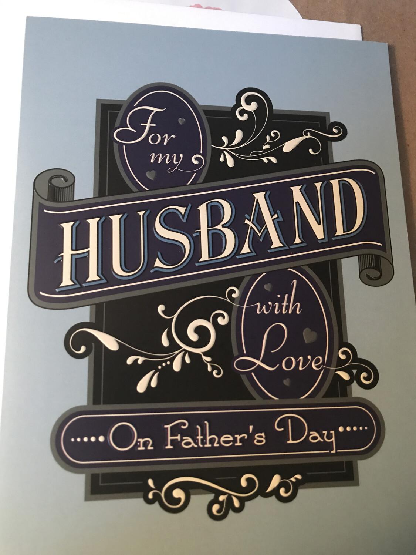 Husband In Scroll Card