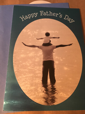 Water Father's Day Card 3.25