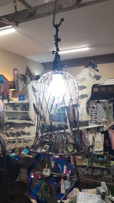 Wire Bell Pendant w/Bulb