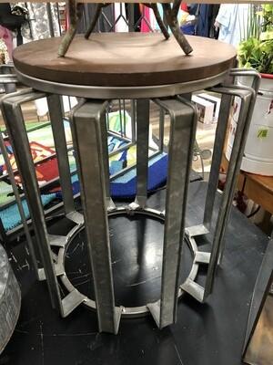 """Side Table SM 16.5"""" Metal/Wood"""