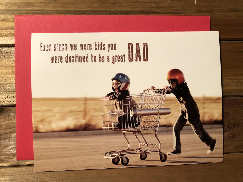 Kids Pushing Shopping Cart