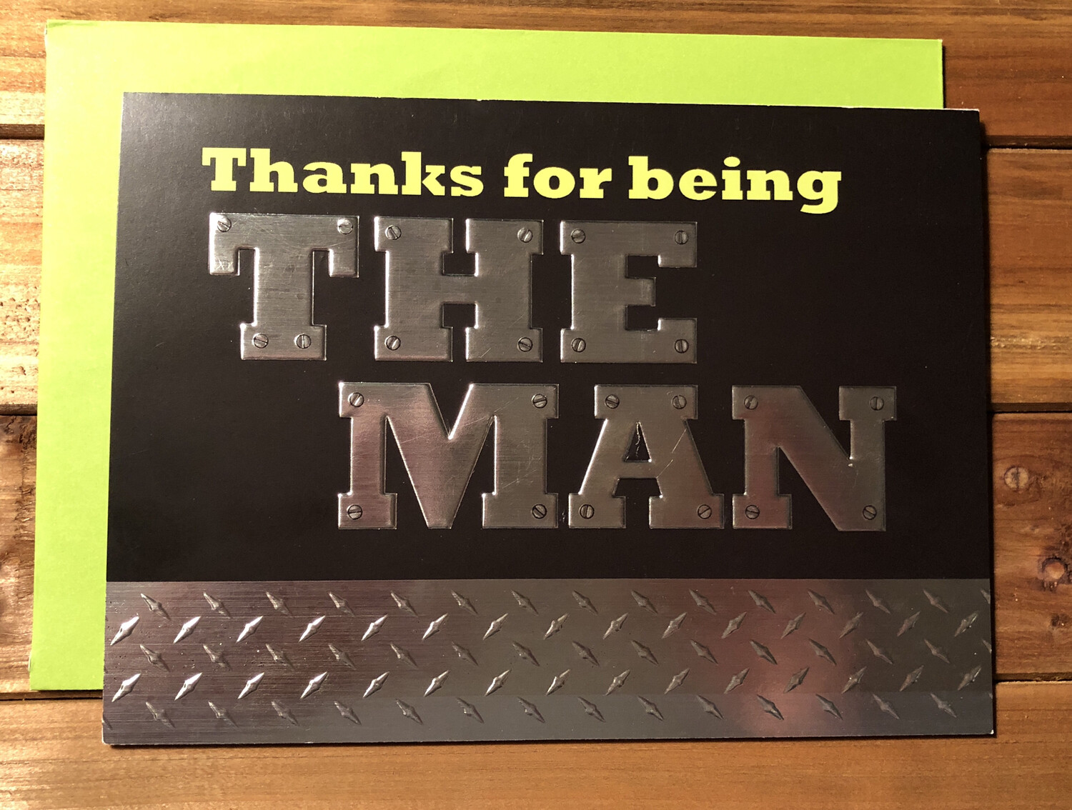 Thanks for Being the Man Card