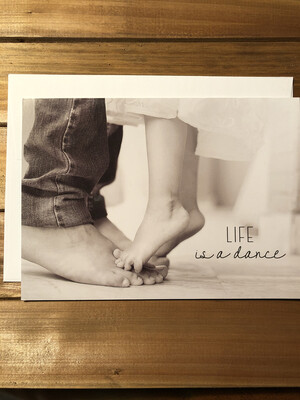 Father Daughter Feet Card