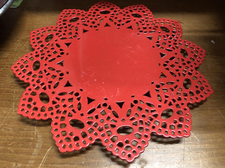 Red Doily Trivet