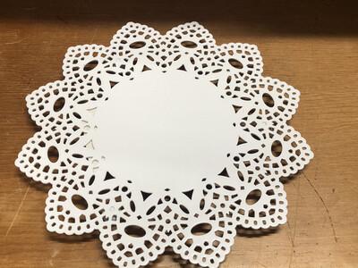White Doily Trivet