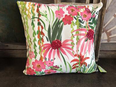 Floral Canvas Pillow
