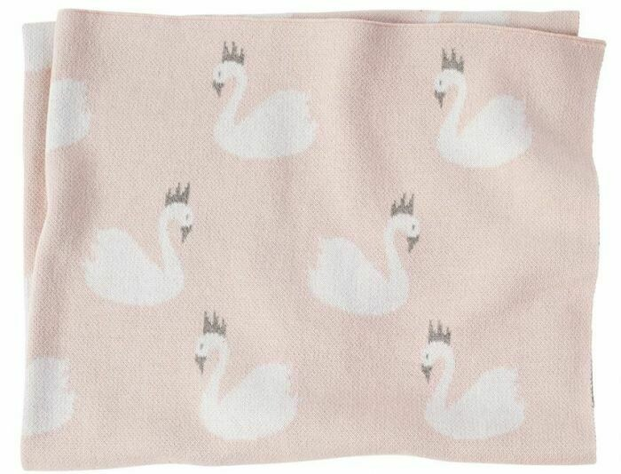 Pink Swan Blanket