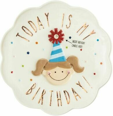 Girl Birthday Plate