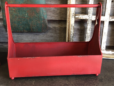 Decorative Tool Caddy Red