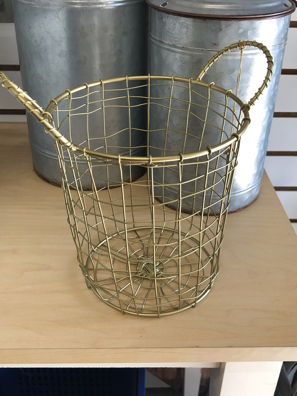 Tall Gold Basket
