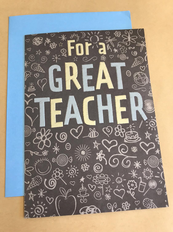 For a Great Teacher