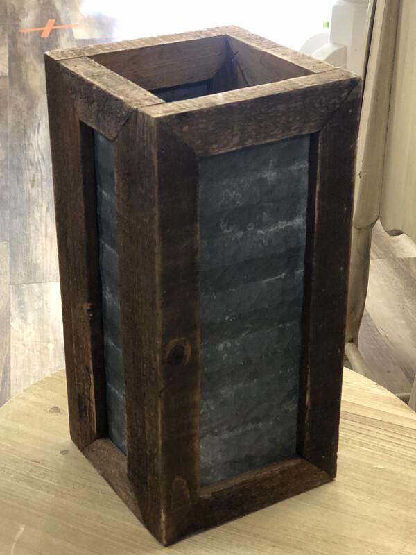 Tall Metal\Wood Box