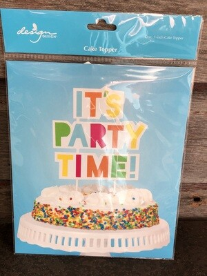 It's Party Time Cake Topper