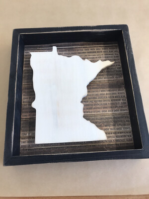 Minnesota Cities Shadow Box