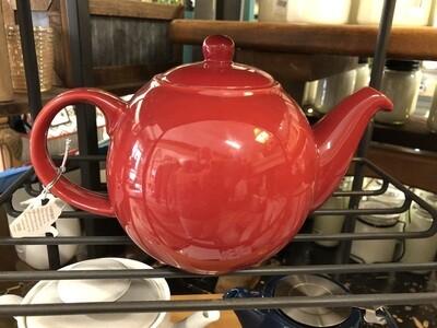 Red Globe Teapot