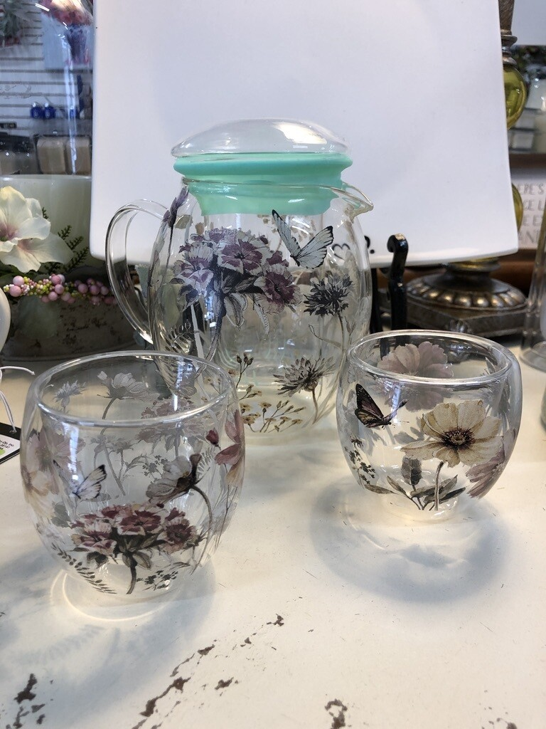 Botanical Glass Tea Set