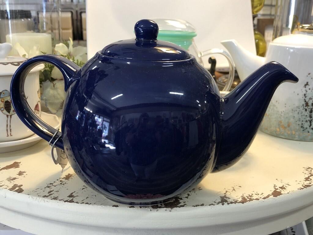 Blue Globe Teapot
